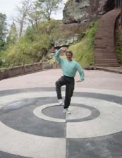 Roger Jahnke practicing Qigong